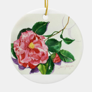 Red Camellia Ornament