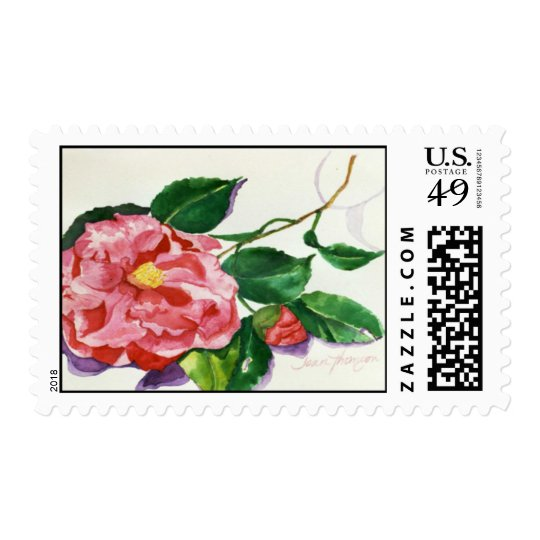 Red Camellia Postage
