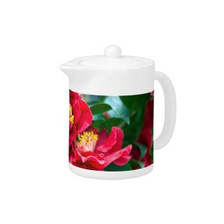 Red Camellia Teapot
