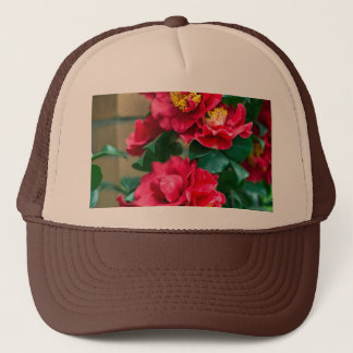 Red Camellia Trucker Hat