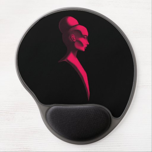 Red Cameo Gel Mouse Pad