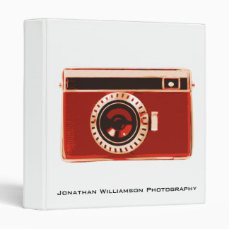 Red Camera Photography Business Binder