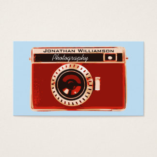Red Camera Photography Business Cards