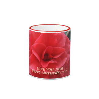 Red Camilla Budding Flower Mug for Mother's Day