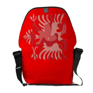 Red Camo Albanian Eagle 3D Courier Bag