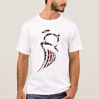 Red Camo Angel Melange Ringer T-Shirt