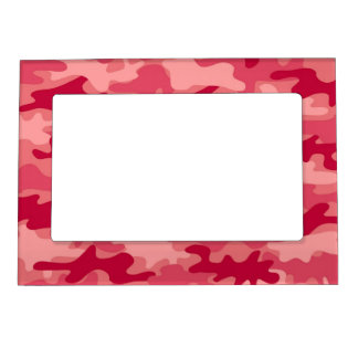Red Camo Camouflage Name Personalized Magnetic Photo Frame