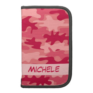 Red Camo Camouflage Name Personalized Folio Planners