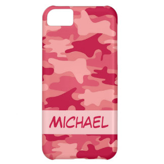 Red Camo Camouflage Personalized Case For iPhone 5C