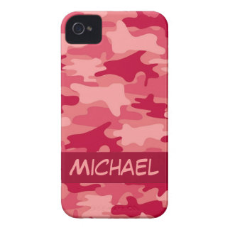 Red Camo Camouflage Personalized Case-Mate iPhone 4 Case