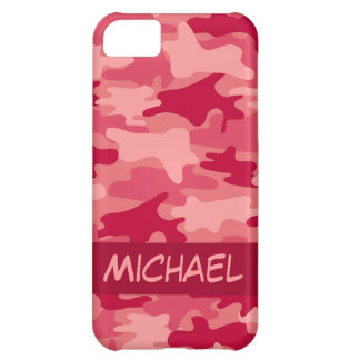 Red Camo Camouflage Personalized Cover For iPhone 5C