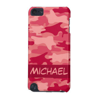 Red Camo Camouflage Personalized iPod Touch 5G Case