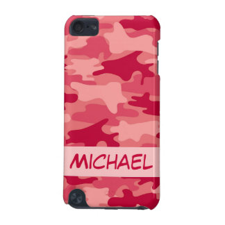 Red Camo Camouflage Personalized iPod Touch 5G Cover