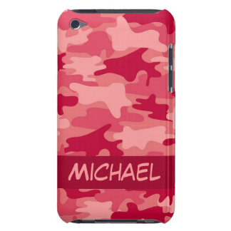 Red Camo Camouflage Personalized iPod Touch Case