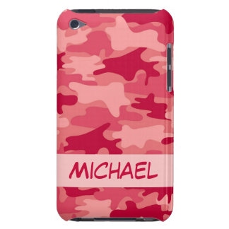 Red Camo Camouflage Personalized iPod Touch Cover