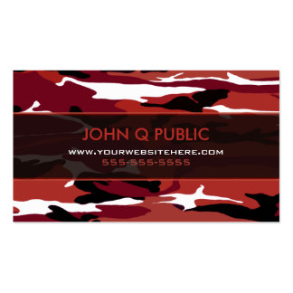 Red Camo Pattern Business Card