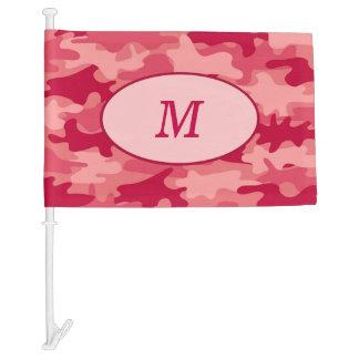 Red Camouflage Camo Monogram Initial Window Car Flag