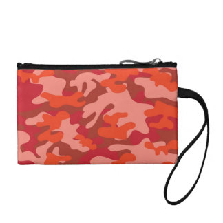 Red Camouflage Coin Purse