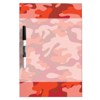 Red Camouflage Dry-Erase Board