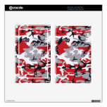 Red Camouflage eReaders and Tablets Skins Kindle Fire Skins