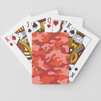 Red Camouflage Poker Deck