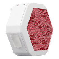 Red Camouflage Pattern Boombot REX Speakers