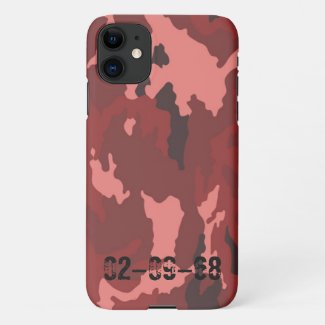 Red camouflage pattern iPhone 11 case
