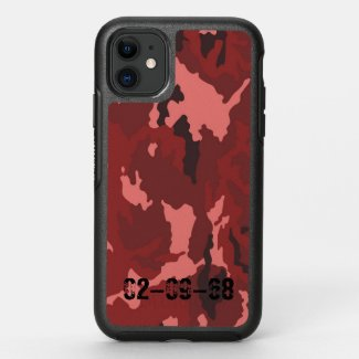 Red camouflage pattern OtterBox symmetry iPhone 11 case