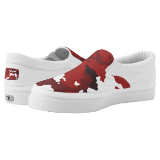 Red camouflage pattern Slip-On sneakers
