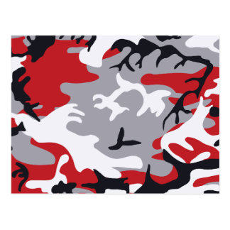 Red Camouflage Postcard