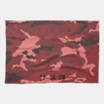 Red Camouflage sample Kitchen Towels
