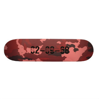 Red Camouflage sample Skateboard