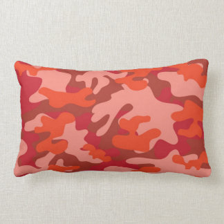 Red Camouflage Throw Pillow