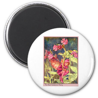 Red Campion Fairy Magnet
