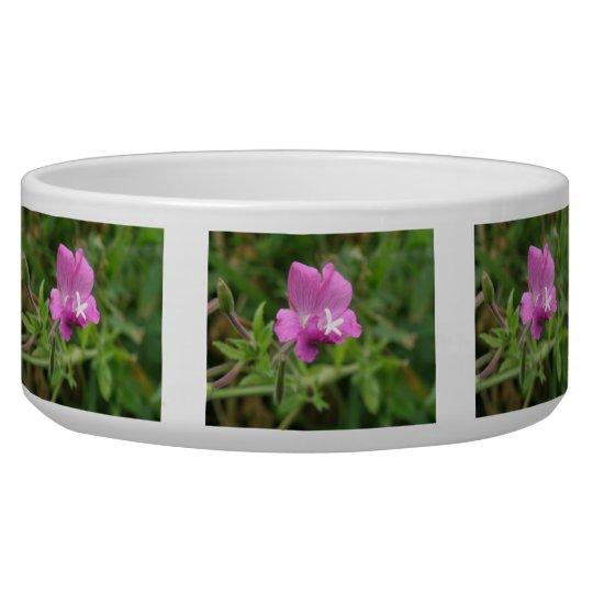 Red Campion Wildflower Dog Bowl