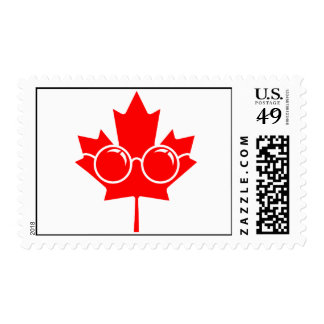 Red Canad maple plus glasses Stamps