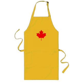 Red Canada Maple Leaf Souvenir Long Apron