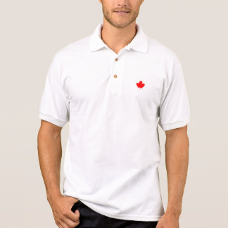 Red Canada Maple Leaf Souvenir Polo T-shirts