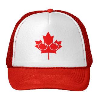 Red Canada maple plus glasses Trucker Hat