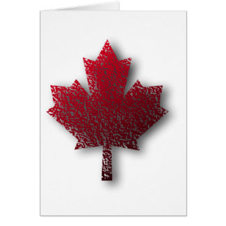 Red Canadian Maple Leaf Card