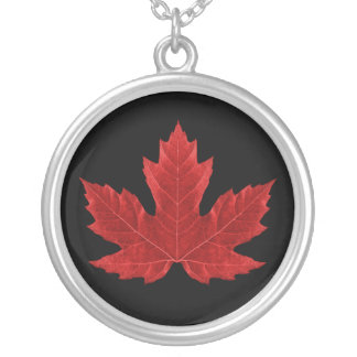 Red Canadian Maple Leaf Necklace
