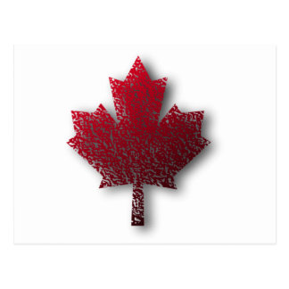 Red Canadian Maple Leaf Postcard