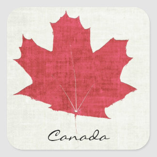 red canadian maple leaf sticker