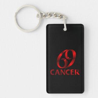 Red Cancer Horoscope Symbol Keychain
