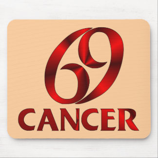 Red Cancer Horoscope Symbol Mouse Pad
