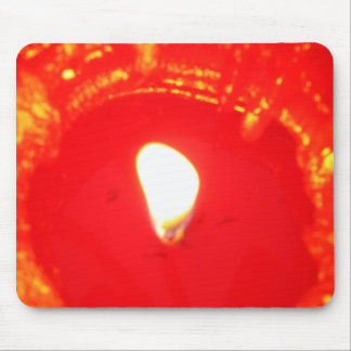 Red Candlelight, Flame , Candle, Christmas Love Mouse Pad