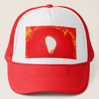 Red Candlelight, Flame , Candle, Christmas Love Trucker Hat