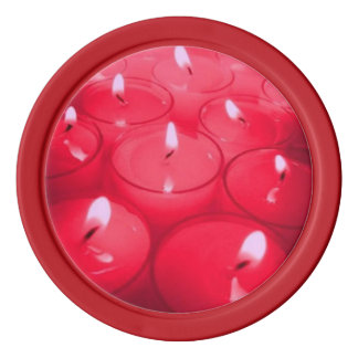 Red Candles Poker Chips
