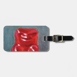 Red Candy Bear Luggage Tag