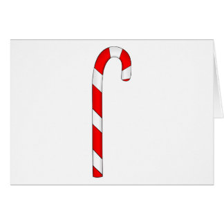 Red Candy Cane Card